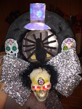 skull with top-hat wreath in San Antonio, Texas