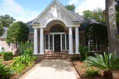 REDUCED! Stunning 1-story, 4100', 4/3/3, w/2 1/2 baths, 2 acres, huge trees, 16x32 workshop in Katy, Texas