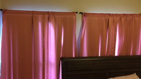 Pink curtains 30x84 in Fort Drum, New York