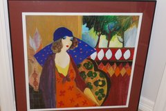 Indigo Charpeau, signed TARKAY rich deep tone wall art, framed/matted/glass & Certificate of Aut... in Katy, Texas