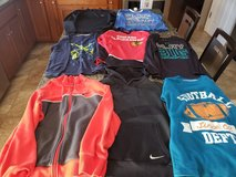 8 pieces boys winter tops size 10-12 in Lockport, Illinois