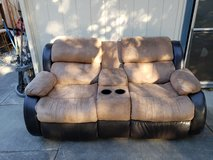 Love seat with dual recliners built I in Travis AFB, California