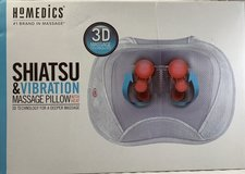 NEW HoMedics SP-105H 3D Shiatsu and Vibration Massage Pillow with Heat in Bolingbrook, Illinois