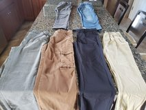 6 pieces boys winter pants size 12 in Naperville, Illinois