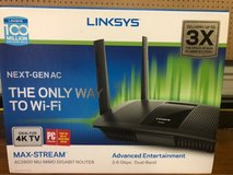 LINKSYS AC 2600 2.6 gbps MAX STREAM MU-MIMO DUAL BAND ROUTER in Kingwood, Texas