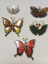 4 Butterfly Pins/1 Butterfly Magnet in Eglin AFB, Florida