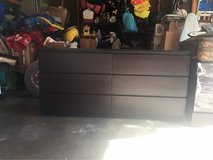 Dark dresser with 6 drawers in Oswego, Illinois
