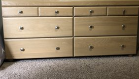 Wood 6 drawer dresser in Oswego, Illinois