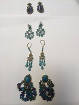 Blue Earrings 2/$1 (clip on & pierced) in Eglin AFB, Florida