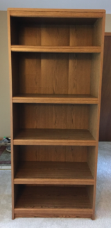 Bookcase 5 shelves-ex cond in Tinley Park, Illinois