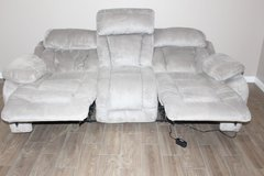 electric recliner sofa -Light grey in Spring, Texas