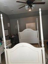 Girls full size canopy bed and night stand in Kingwood, Texas