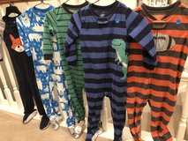 Boys 3t fleece footed pajamas.  Mix and match in St. Charles, Illinois
