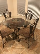 Custom upholstered table and chairs in Kingwood, Texas