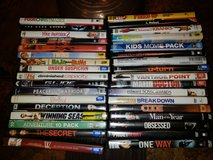 Assortment of 34 movies in Lockport, Illinois