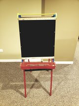 Double Sided 2-in-1 Dry Erase Board and Chalkboard Easel in Batavia, Illinois