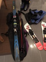 Women's downhill ski set and Big Foot skis in Ramstein, Germany