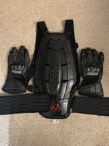 Gloves and Back Protector in Lakenheath, UK