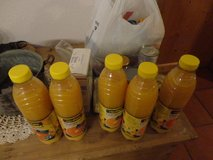 Food orange juice cans and noodles in Ramstein, Germany