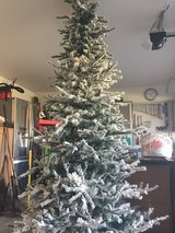 9' Flocked Christmas Tree in Cleveland, Texas