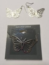 *NEW* Pure Silver Plated Butterfly Necklace & Earrings in Eglin AFB, Florida
