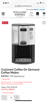 Cuisinart Coffee maker in Fort Carson, Colorado