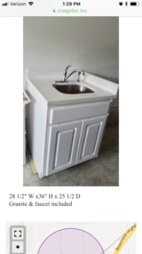 Sink Cabinet with Granite in Baytown, Texas