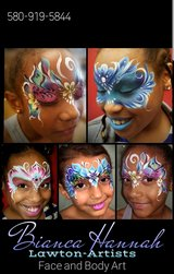 Free face painting on Mondays in Lawton, Oklahoma