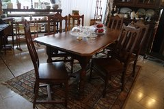 rustic solid oak dining room set with 6 chairs in Stuttgart, GE