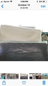 Twin size mattress and box springs headboard frame still in plastic in 29 Palms, California
