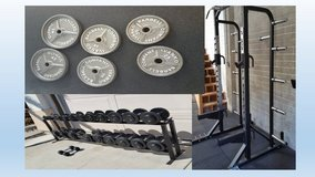 Gym rack and dumbbells weights in Lake Elsinore, California