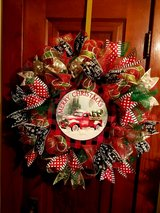 Christmas Red Truck Wreath in Joliet, Illinois