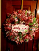 Handmade Candy Cane wreath in Joliet, Illinois