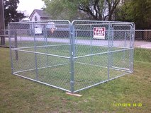New 10' x 10' x 6' portable chain link dog kennel in League City, Texas