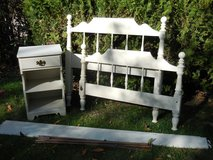 Ethan Allen White Twin Bed and Nightstand in Westmont, Illinois
