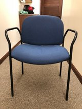 Blue Stackable Office Chairs in Oswego, Illinois
