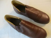 Mens 7.5 leather hard sole slippers in Bolingbrook, Illinois