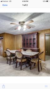 Marble top table, Hutch, China cabinet in Bellaire, Texas