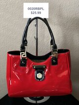 BRAND NEW! Red/Black shiny patent leather with gold medallion accent in front and on straps in Nellis AFB, Nevada