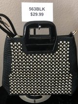 BRAND NEW!  Black SUPER STUDDED/JEWELED ,black alligator accents on front/back, patent leather h... in Nellis AFB, Nevada