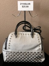 BRAND NEW! Silver studded/jeweled, dual zipper, extra long strap included , functioning back pocket in Las Vegas, Nevada