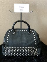 BRAND NEW!  Black studded/jeweled, dual zipper, extra long strap included , functioning back pocket in Las Vegas, Nevada