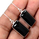 New - Black Onyx 925 Sterling Silver Earrings in Alamogordo, New Mexico