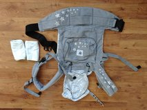 Ergo Baby Carrier and organic cotton teething covers in Plainfield, Illinois