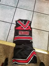 Little Girls Falcons Cheerleader Costume size Small in Fairfield, California
