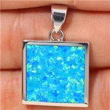 New - Blue Fire Opal Silver Pendant (Includes a chain) in Alamogordo, New Mexico