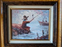 Boy Fishing Oil Painting in Naperville, Illinois