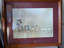 Amish children framed print in Naperville, Illinois