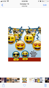 Emoji party supplies in Fort Drum, New York