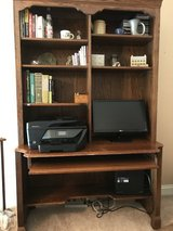 Ethan Allen desktop computer desk and shelf unit in Algonquin, Illinois